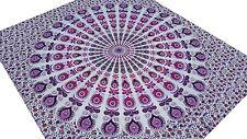 Motifs indiens Couvre lit tribale Mandala Jeté de lit Tenture Tapisserie Inde C2