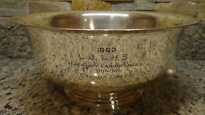 1962 LJ LHS Hackney Ladies Single Canada Dry promo Cheshire silver trophy bowl