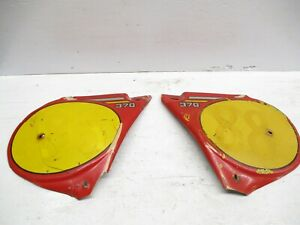 1977 Bultaco MK10 Pursang 370 used Left and Right Side Panels Number Plate