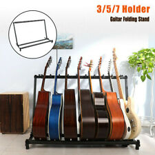 More details for 3/5/7 multi guitar stand foldable acoustic electric electric bass guitar rack