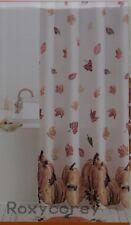 Celebrate Fall Together Pumpkin & Leaves Fabric Shower Curtain 70x70 NIP