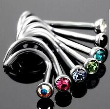 Lot 5 Percing Nez Style Diamant Courbé