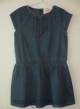 HANNA ANDERSSON Chambray Ruffle Dress Vintage Light Blue 90 3T 3 NWT