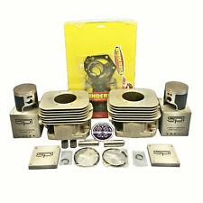 New OEM Polaris Nikasil Plated Cylinders 04-18 550 F Fan Piston Gaskets IQ RMK
