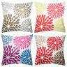 EE_ Contrast Color Flower Pillow Case Sofa Car Waist Cushion Cover Home Decor Re