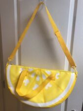 "Disney Store Mickey Mouse Lemon Wedge Large Cooler Warner  Bag 20"" NWT"