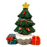 2″ Christmas Village Figurine Hand Crafted Décor House Resin Santa Tree