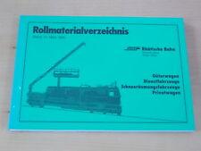 Rollmaterialverzeichnis Stand 31.03.1995 , Rhätische Bahn , Güterwagen usw.