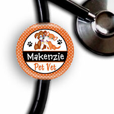 PET VET VETERINARY PERSONALIZED STETHOSCOPE ID TAG