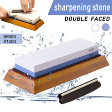 Dual Whetstone Waterstone Knife Sharpening Water Wet Stone Sharpener 1000/6000