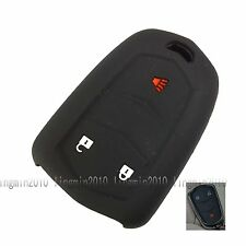 3 BTNS Black Silicone Cover Flip Key Case Shell For Cadillac 2016 ATS CTS XTS