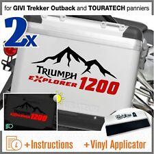 2x Adesivi Nero Rosso compatibile Triumph Tiger Explorer 1200 TOURATECH GIVI