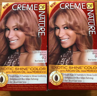 CREME OF NATURE EXOTIC SHINE LIGHT CARAMEL BROWN - 2 Boxes !