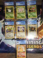 7 CGC CARD LOT Pokemon Jungle 8 8.5 Pidgeot Meowth Tauros Rapidash Exeggutor PSA