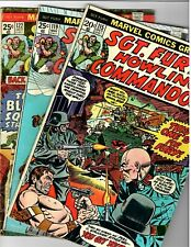 Sgt.Fury and his Howling Commandos # 115,119,122 Marvel Bronze-Age War Lot VG-