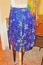 "Vintage Silky Oriental Short Dragon Print Lined Skirt / 28"" Wiast"