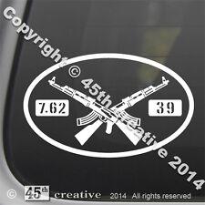 AK-47 assault Rifle Oval Decal - russian military surplus 7.62x39 logo sticker