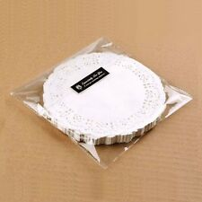 "100pcs/lot 6.5"" Round White Lace Paper Doilies for Cakes and Cupcake Platters"