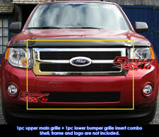 Fits Ford Escape Black Billet Grill Combo 2008-2012