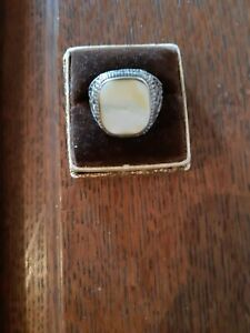 antiker Herrenring - Silber um 1900 - Perlmutt
