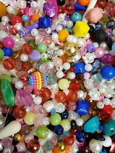 Job Lot 500 Grams Of Mixed Beads Acrylic Beads For Craft Jewellery Making