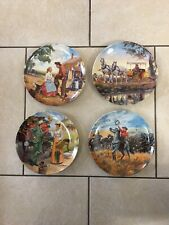 Knowles Oklahoma Collector Plates Set Of 4 Preowned