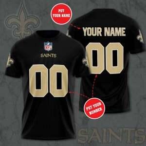 New Orleans Saints Custom Jersey NFL Football Personalized Shirt Jersey