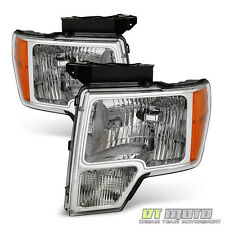 2009-2014 Ford F150 F-150 Replacement Headlights Headlamps 09-14 Pair Left+Right