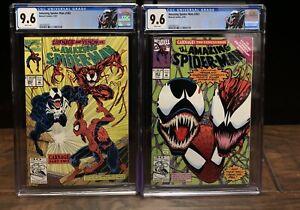 Amazing Spider-Man #362 & 363 CGC 9.6 CARNAGE! CUSTOM Label - Marvel VENOM