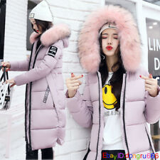 2018 Women winter coat Down jacket Ladies fur hooded jackets Long puffer parka