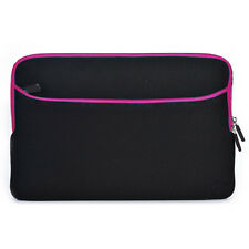 Pink Neoprene Sleeve w/ Pocket Laptop Bag Case Cover for 2-in-1 Tablet Laptop