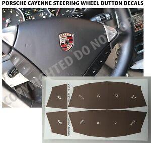 Porsche Cayenne Worn Button Repair Decals Stickers in Havana Brown Biege