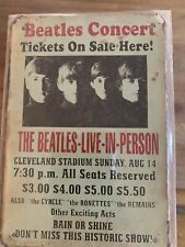 Beatles Vintage Retro Metal Sign At Cleveland Stadium/historical Concert Usa