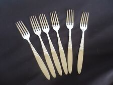 6 silver plate grosvenor christine entree forks great condition