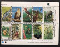 INDONESIA FLORA & FAUNA BLOCK OF 10 STAMPS 1997 MNH WILD ANIMALS BIRDS PLANTS