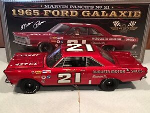 Autographed University of Racing 1965 Marvin Panch Augusta Motor Galaxie 1/24
