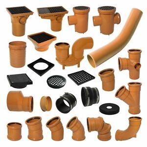 Underground Drainage 110mm Pipe Fittings Bend Trap Gulley Socket Grid Coupler