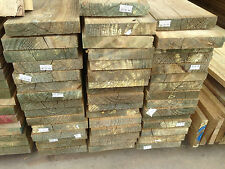 Treated Pine Dressed 190x35 Garden Sleepers Fence Plinth 6.0m Lengths