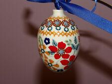 Polish Pottery Heart Ornament! UNIKAT Signature Rembrandt Pattern