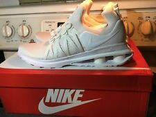 Mens nike shox gravity 10.5 white new with box all white running sneakers shoes