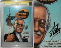 Detroit FanFare 2010 Stan Lee Signature SS 9.2 CGC Obama Spider-Man 583 Homage