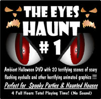 NEW Animated Halloween Video Effect Creepy EYE'S DVD Scary Haunted House Prop #1