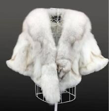 Women Coat Short Jacket Genuine Real Fox Fur Outwear Winter Warm Parka Slim Fit
