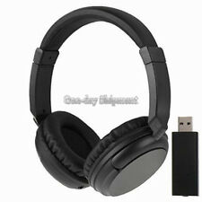 Hot Sales 2.4G Hz Wireless TV Headset Over-Ear Headphone for TV Computer LaptopT