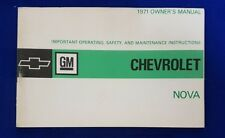 CHEVROLET 1971 Nova Owners Manual Genuine GM Product Brand new Never Used