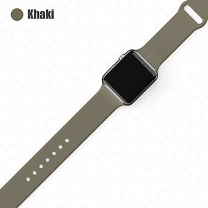 Silicone Band Strap for Apple Watch Sports Series 7 6 5 4 3 2 1 SE 38/40/42/44
