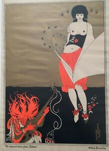 Vintage poster - 'Stomach dance from Salome' - Aubrey Beardsley