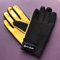 Mens Leather Mesh soft Driving Gloves Retro style Top quality Chauffeur King