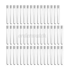 100X Clear Plastic Test Tubes 100mm x 12mm  Wedding Test Tube With Push Cap