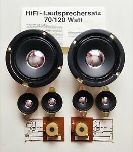 2x Neuer Hifi Lautsprechersatz 70/120 Watt Bausatz Hobby Lautsprecher Ersatzteil